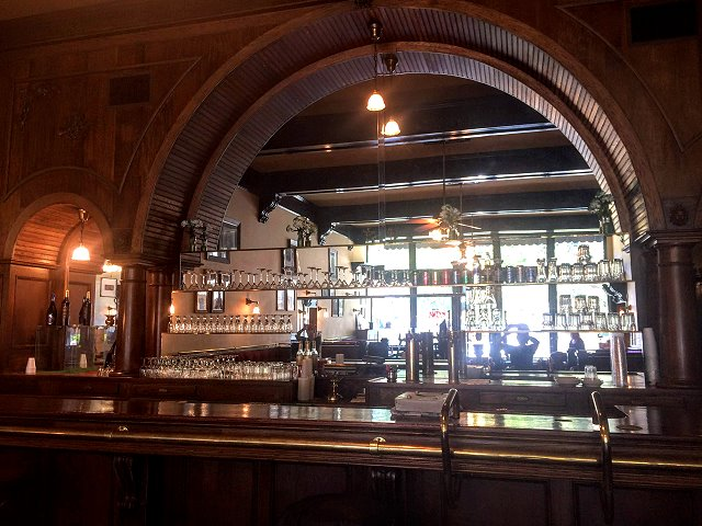 The impressive Jamison Hotel bar