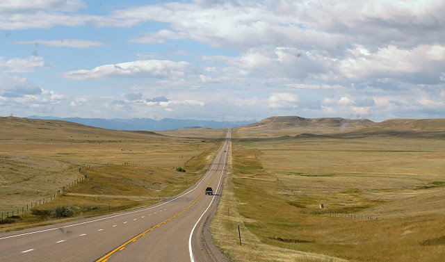 East Face of the Rockies - Mountains in the distance
