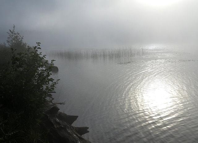 Mist on Seeley Lake