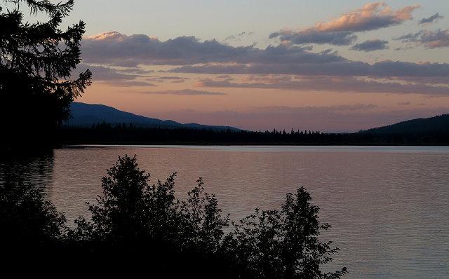 Sundown at Seeley Lake